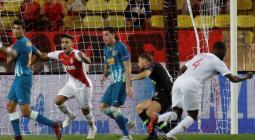 Falcao García con Mónaco frente al Atlético de Madrid en Champions League