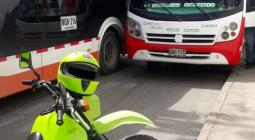 Accidente entre buseta y bus de Transcaribe