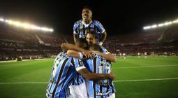 Gremio celebra el gol a River Plate