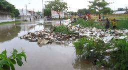 Barrio Las palmeras inundado