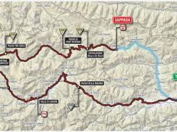 Planimetría etapa 15 del Giro de Italia 2018.