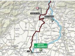 Plano de la etapa 14 en el Giro de Italia 2018.