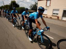 El Movistar Team durante la etapa 4 del Tour de Francia 2018