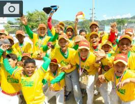 Equipo de Cartagena Amarillo, campeón en la categoría Infantil.