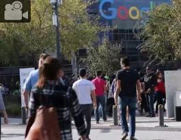 Empleados de Google en manifestación