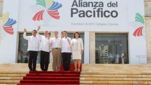 Presidentes de Perú, Chile, Colombia, México, y Costa Rica, durante de la VIII Cumbre de la Alianza del Pacífico.