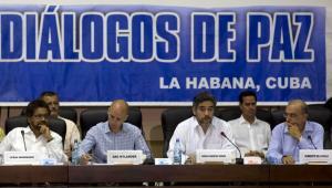 Mesa de diálogos de las Farc y el gobierno colombiano.