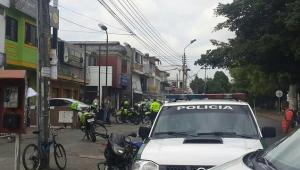 Intento de asalto a banco de Bogotá en Cali