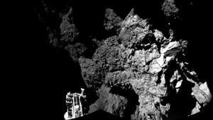 Philae en el cometa 67P/Churyumov-Gerasimenko.