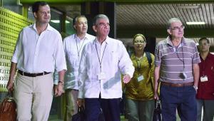 Negociadores del Gobierno colombiano en el proceso de paz.