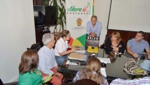 Reunión realizada esta mañana en el salón Vicente Martínez de la Alcaldía.