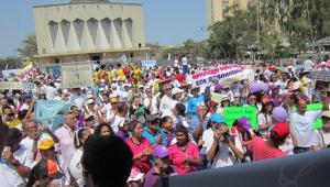 Marcha por la vida en Barranquilla.