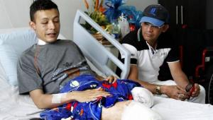 Edwar Ávila Ramírez, cabo del Ejército víctima de una mina antipersonal.