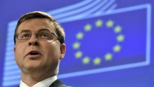 vicepresidente de la Comisión Europea a cargo del euro, Valdis Dombrovskis