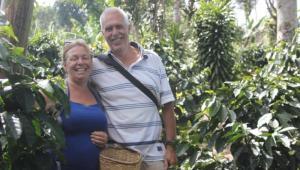 Durdana y su esposo Peter Putker.