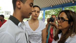 """La Ministra de Educación, Gina Parody, hizo este viernes el lanzamiento oficial para Sucre del programa """"Maestro Pionero"""" en la ciudad de Sincelejo."""