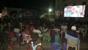 Presentación anoche en San Basilio de Palenque.