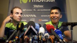 Nairo Quintana recibirá el apoyo en la montaña de Alejandro Valverde.