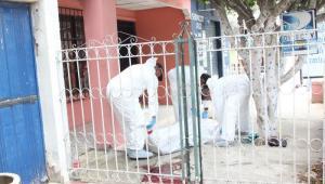 Michel Alcalá y el mototaxista Arnold Cuadrado fueron asesinados por sicarios en La María. La Policía indicó que la mujer haría parte de la banda criminal 'Clan del Golfo'.