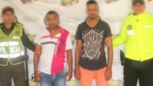 Alias 'el Chino' y 'el Gringo' capturados por la Policía por atentado con granada en el CAI de El Pozón.