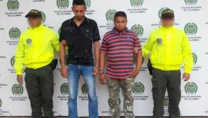 José Rodolfo Morales y Cristian Camargo Quiroz. Capturados por asesinato de Cedulia Camargo Quiroz en San Fernando.