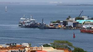Base Naval, en la entrada de Bocagrande.