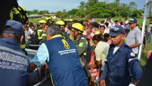 Simulacro de evacuación realizado en el municipio de San Marcos.