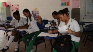 Salones de clases de la institución educativa