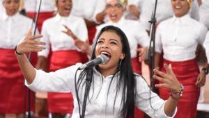 Cantante del Coro Gospel de Unibac.