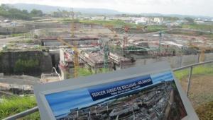 Obras en el canal de Panamá.