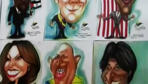 Caricaturas presidenciales en Cumbre de las Américas.