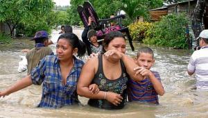 Inundación en el barrio Uribe-Uribe de Sincelejo