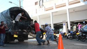 Operativos viales en Centro Histórico de Cartagena