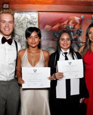 Douglas Davis, Leydis Navarro, Jimena Jiménez y Victoria Escobar.