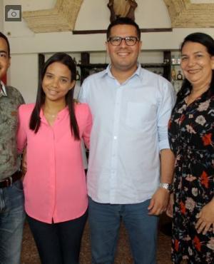 Cristian Zabaleta, Marlis Marrugo, Leonel Quintana y Patricia Villalba.