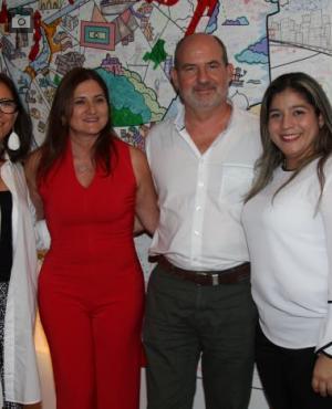 Edith Salas, Lina María Acosta, José Enrique Rizo y Elizabeth Campillo.