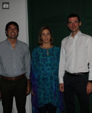 Juan Pablo Vélez, María Claudia Páez y Christoph Saurenbach.