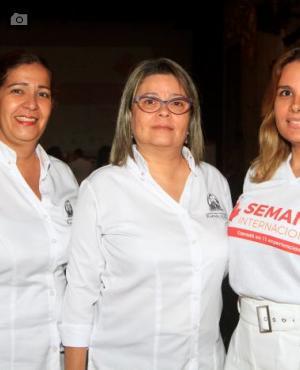 Judith Herrera, Patricia de Moya y Vanessa Henríquez.