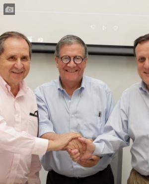 Salvador Alva Gómez, Pablo Navas e Ignacio Sánchez.