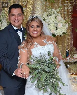Los recién casados, Marcos Álvarez Benítez y Cruz Elena Arboleda Villarreal.