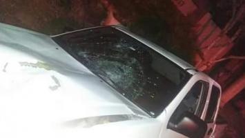 Camioneta que arrolló a Manuel Estrada en Arjona.