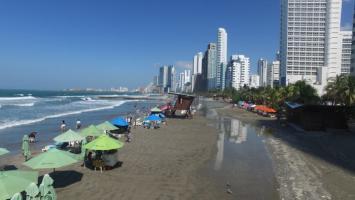 Mar de leva en Cartagena