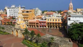 Panorámica desde la Torre del Reloj, en Cartagena.