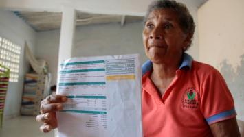 Liduvina Zurita. cartagenera que se queja por tarifas altas de Electricaribe.