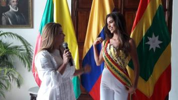 Imponen banda a Señorita Cartagena para 'Rumbo a Miss Universo'