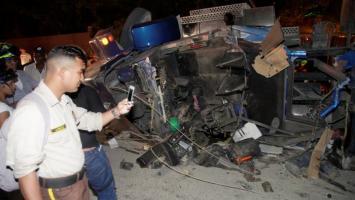 Accidente en Mamonal que dejó dos muertos y un herido.