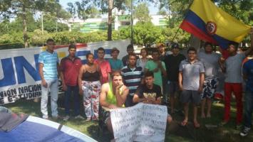 Estudiantes en huelga