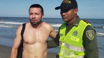Turista rescatado del mar