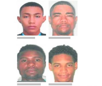 Según indicó la Fiscalía, estos son los cuatro hombres más buscados en Cartagena.