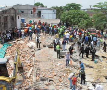 Desplome de edificio en Blas de Lezo.